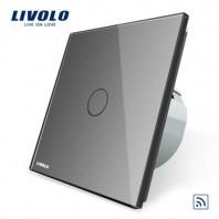 Intrerupator simplu wireless cu touch Livolo din sticla - VL-C701R