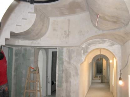 Interiorul Casei Ilie Birt in timpul restaurarii  Brasov SAINT-GOBAIN CONSTRUCTION PRODUCTS ROMANIA - DIVIZIA RIGIPS