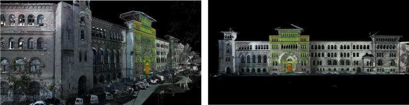 Graphein releveu 3D - nor de puncte - Cladirea Universitatii de Arhitectura Ion Mincu Bucuresti GRAPHEIN