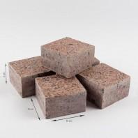 Piatra Cubica Granit Maple Red Fatetata 4 laterale 10 x 10 x 5 cm - PC-4417