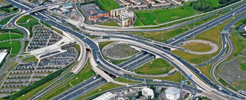 Cum au ajutat panourile Geotub la extinderea autostrăzii M50 din Dublin