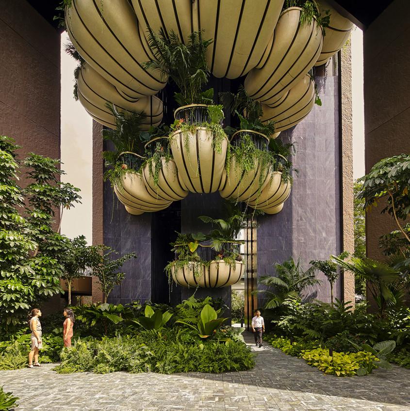 O clădire în care fiecare apartament are propria grădină luxuriantă