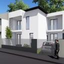 Proiect de casa moderna pentru un teren de 100 mp - Calcane pe trei laturi