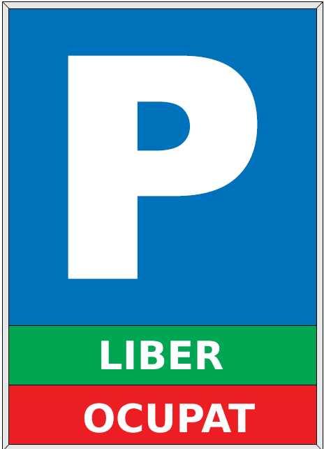 Tabel afișare locuri libere de parcare