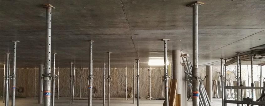Cofraje pierdute pentru parcarea subterană a stației OVives din Geneva