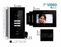 Kit video EXTRA 7'', panou incastrat - VKE.P3FR.T7S9.ELB04