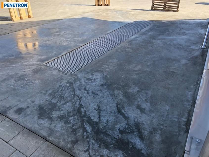 Penetron ține pardoseala din beton uscată la spălătoria din Buhuși, Jud. Bacău