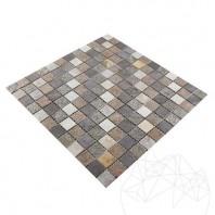 Mozaic Ardezie Flexibila SKIN - Multicolora 2 x 2 cm PIATRAONLINE  MPN-2005