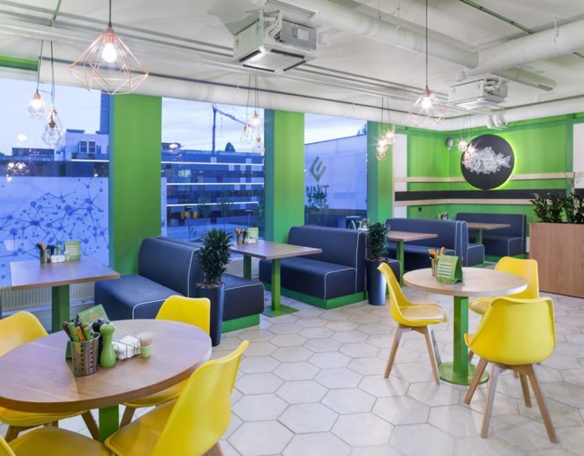 Unit Cafe, un proiect de TSEH Architectural Group. Vedere din interior