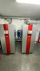 Pompă de caldură și instalație de încălzire în pardoseală pentru o suprafață de cca. 2300 mp