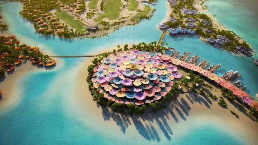 Un hotel pe mare în formă de cerc de Foster + Partners