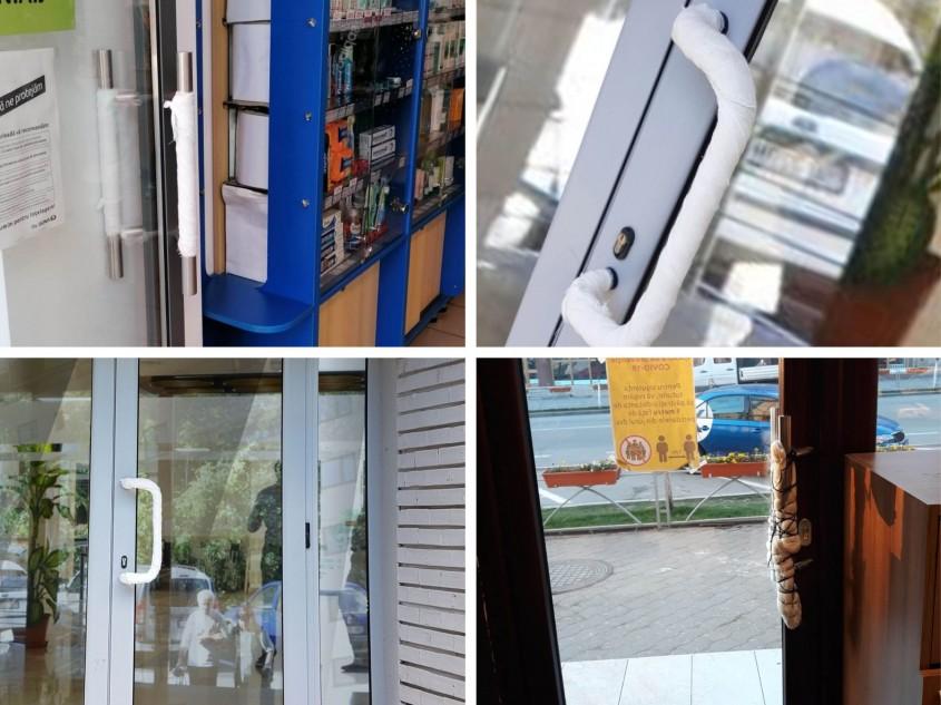 Uși automate pentru controlul accesului și respectarea distanțării sociale