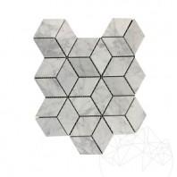 Mozaic Marmura Bianco Carrara Cube Design Mata MPN-1993