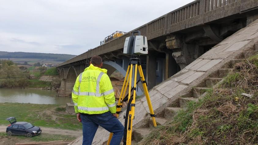 Podul Dolhasca - scanare 3D realizata de GRAPHEIN  Dolhasca GRAPHEIN GRAPHEIN