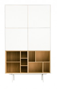 Dulap dormitor, alb mat - Flat Nature
