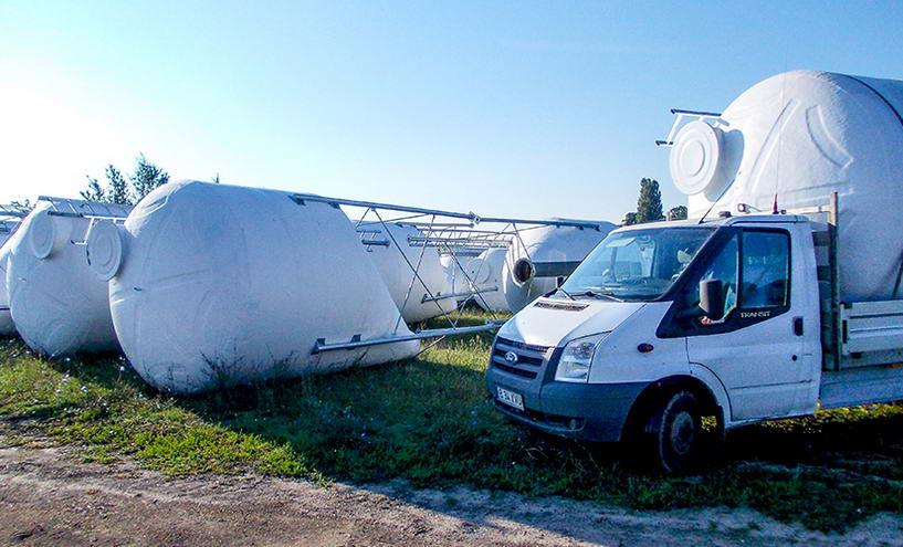 Silozuri, rezervoare eliptice si cilindrice modulare pentru fermieri