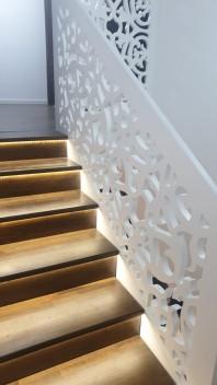 Balustrada ornamentala/aplicata din material MDF vopsit - Model Arborele Vietii