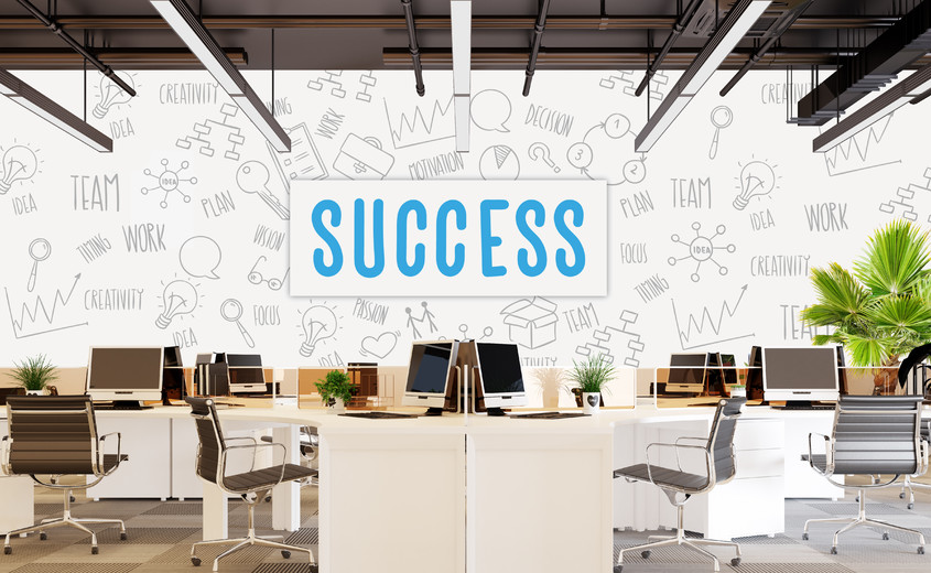 5 motive pentru a decora un spațiu de lucru cu fototapet