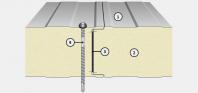 Panou termoizolant de perete cu imbinare vizibila IsoPer N