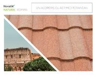 Țigle metalice cu acoperire de rocă vulcanică Novatik NATURA | ROMAN