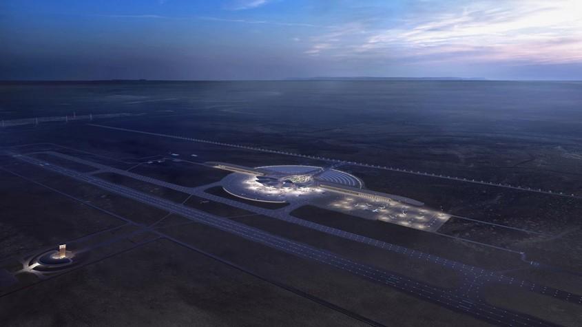 Un aeroport inspirat de culorile şi texturile deşertului