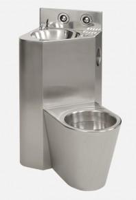Combinatie de lavoar si vas WC din otel inox - SANELA SLWN 08L
