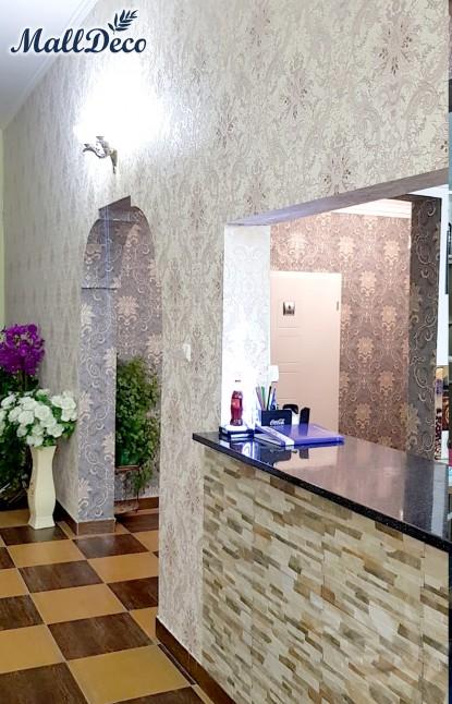 Peretii restaurantului tapetati cu tapet  de vinil MallDeco  Brasov TOP RESERVE BUSINESS