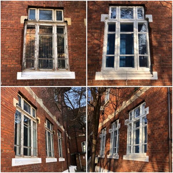 Tâmplăria exterioară din lemn stratificat pentru clădirile clasice