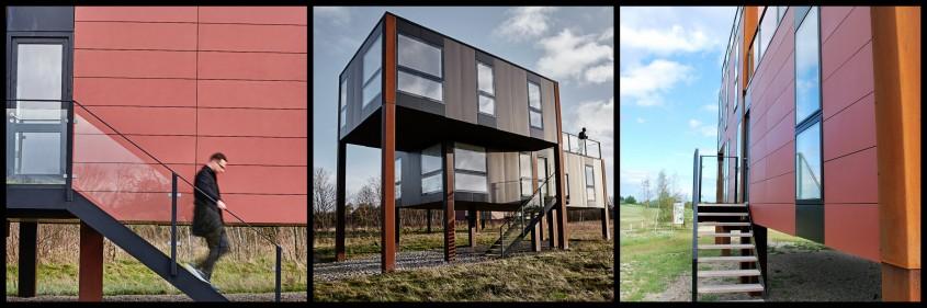 Fatada ventilata realizata cu panouri din fibrociment marca Cembrit, Cladire rezidentiala in Danemarca