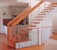 Scara din lemn dreapta sau balansata - INOX Design