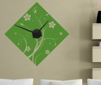 "Sticker tip ceas de perete ""Discret Floral"""