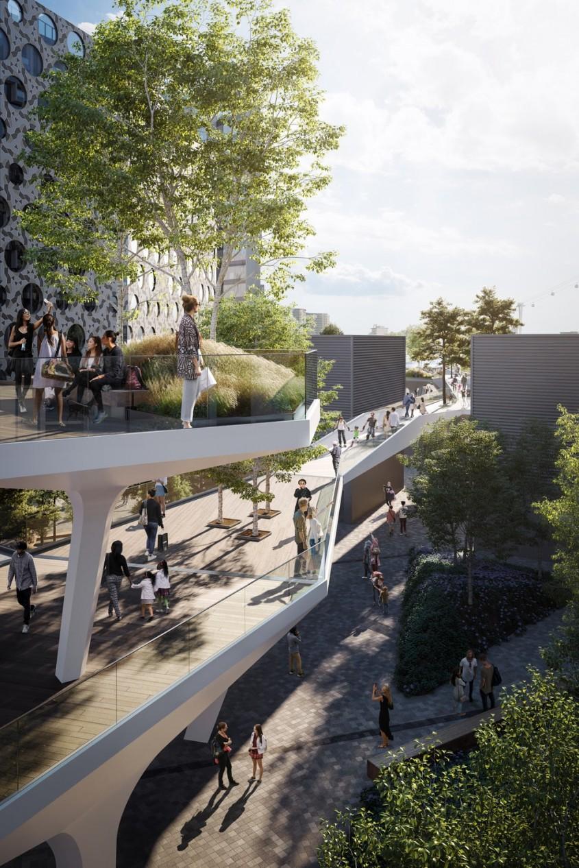 Un nou parc suspendat este construit într-o capitală europeană
