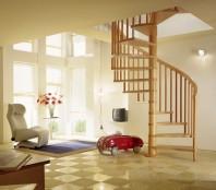 Scara in spirala cu trepte din lemn masiv - TREND