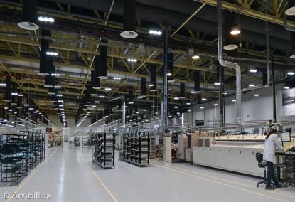 Iluminare hala industriala cu lampi LED - proiect ELECTRONIC INTERACTIV  Bors, Bihor ELECTRONIC INTERACTIV