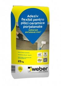 Adeziv flexibil pentru placi ceramice portelanate - weberset portelanat max2