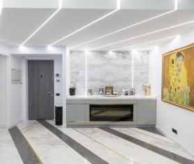 Amenajare apartament custom-made cu piatră naturală