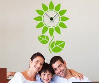 """Sticker tip ceas de perete """"Floare Simpla"""""""