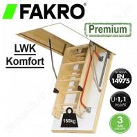 Scara din lemn pentru acces in pod - FAKRO LWK Komfort