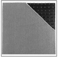 Geomembrana profilata si geotextil