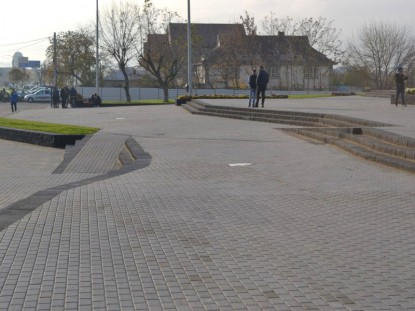 Amenajarea zonelor de trafic pietonal  Craiova ELIS PAVAJE