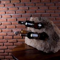 Suport sticle vin - Sandstone Mandras (5 gauri) PIATRAONLINE  AG-2808