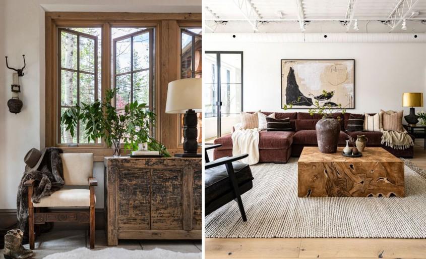 Stilul Rustic Vogue, una dintre cele interesante tendinţe de design interior în 2021