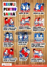 Afis cu reguli pentru sauna - Model 2