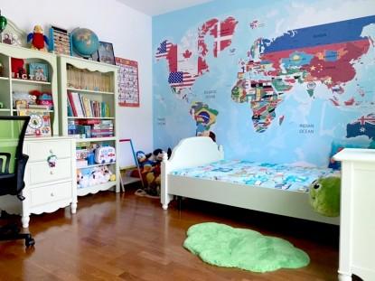 Harta lumii - tapet in camera copilului  Sadu, jud Sibiu TOP RESERVE BUSINESS