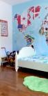 Ambientarea camerei copilului cu tapet foto MallDeco