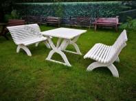 """Set mobilier grădină """"City"""" alb"""