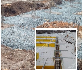 Utilizarea granulele de sticla celulara ca material termoizolant pentru o scoala din Nemesvámos