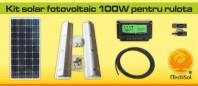 Kit solar fotovoltaic 100 W pentru rulota - KIT100W12VRUL