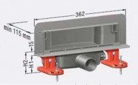 Rigola de dus cu capac invizibil placabil cu faianta de maxim 10 mm - 48000 01