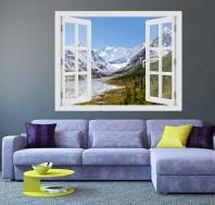 Fereastra cu efect 3D - Muntii Altai, Rusia - 119x93 cm